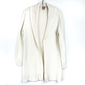 Chico's 1 Size M Off White Open Cardigan Sweater